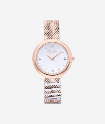 Antigua Bicolor stainless steel watch  Rose Gold and Silver