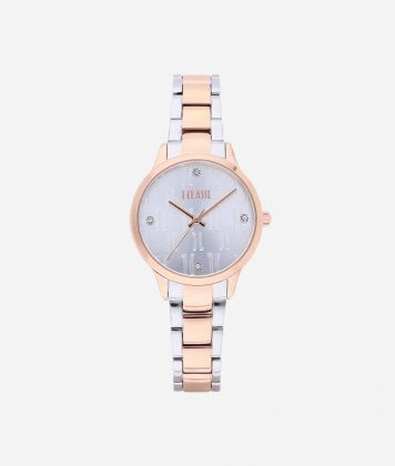 Formentera Bicolor stainless steel watch Silver and Rose Gold