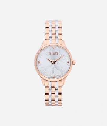 Capri Bicolor stainless steel watch Rose Gold and Silver