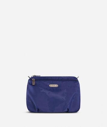 Large beauty case in blue Geo fabric