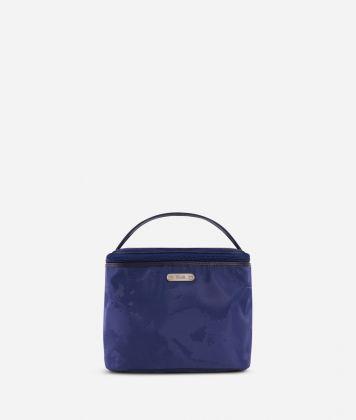Boston-bag beauty case in blue Geo fabric