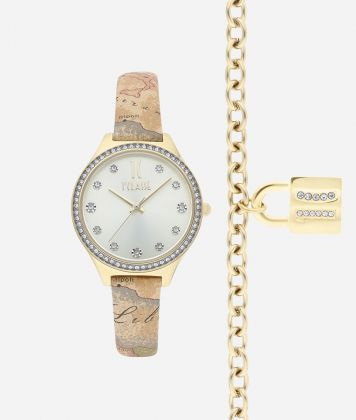 Special Edition Watch with Geo Classic print leather strap and bracelet