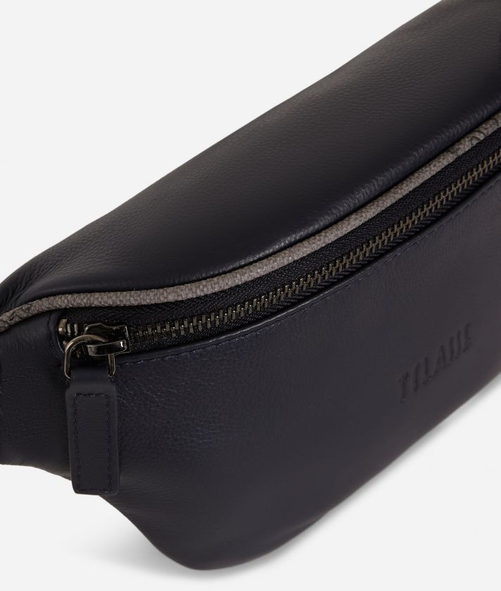 Belt bag leather blue