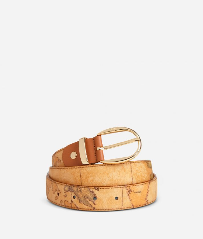 Geo Classic Belt with leather inserts