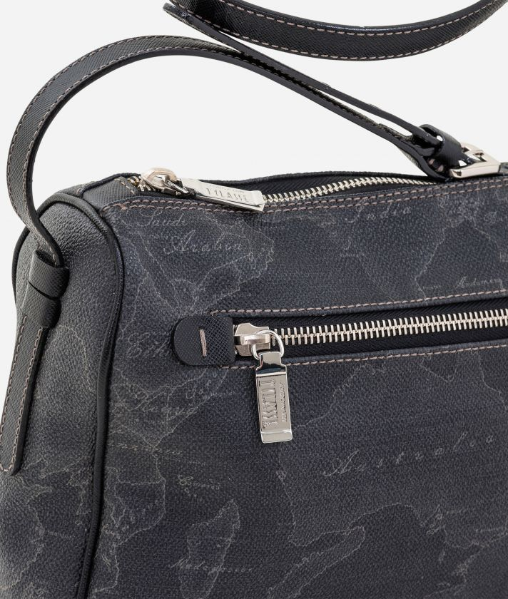 Geo Black Medium crossbody bag