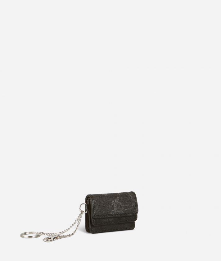 Geo Black Key ring pouch