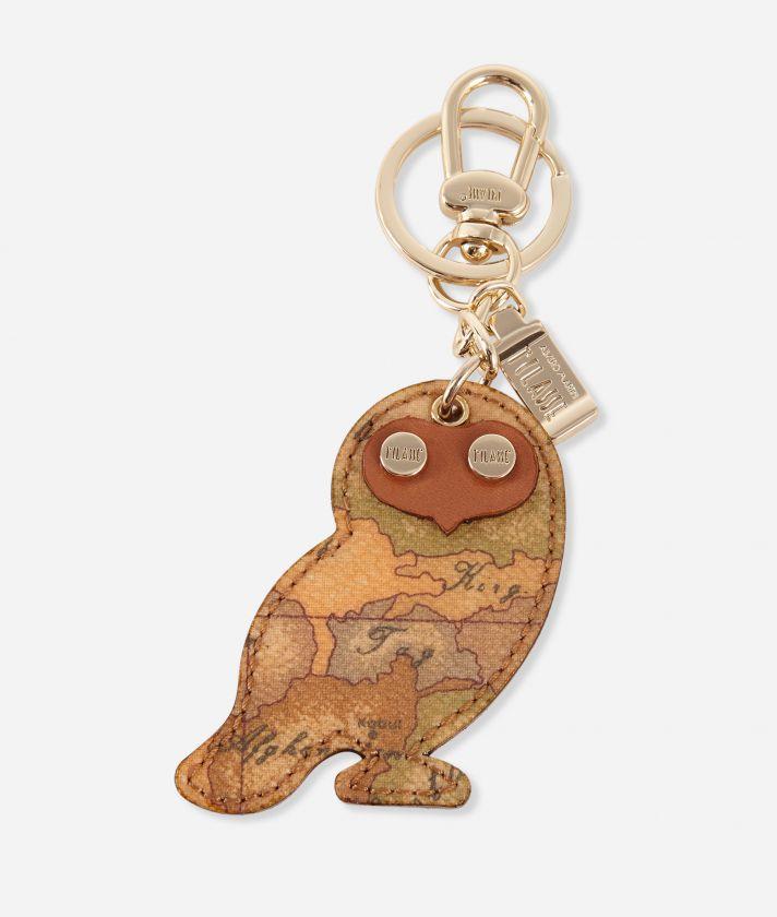 Geo Classic Owl-shaped keyring