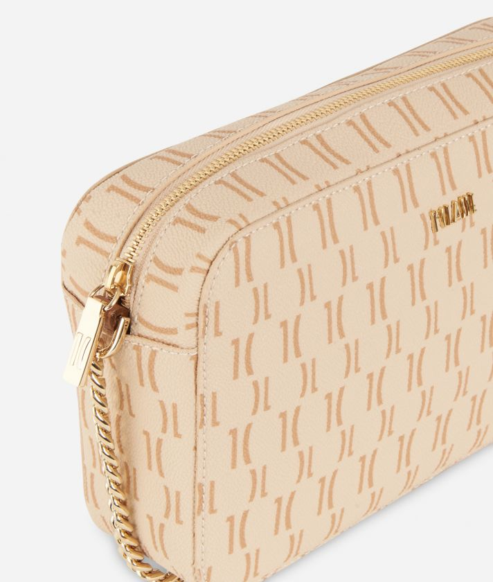 Monogram Report Crossbody Bag Cream