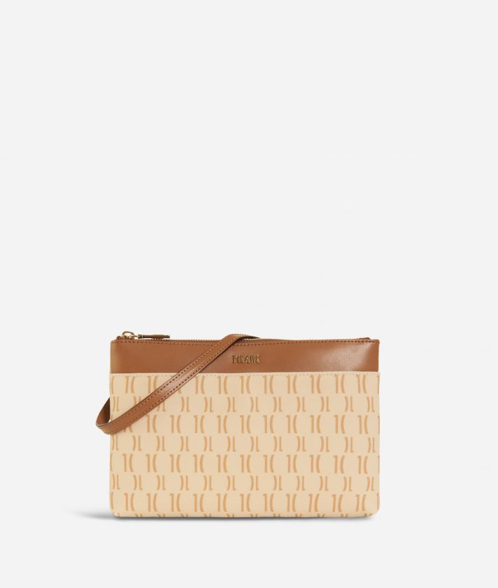Monogram Small Crossbody Bag Cream