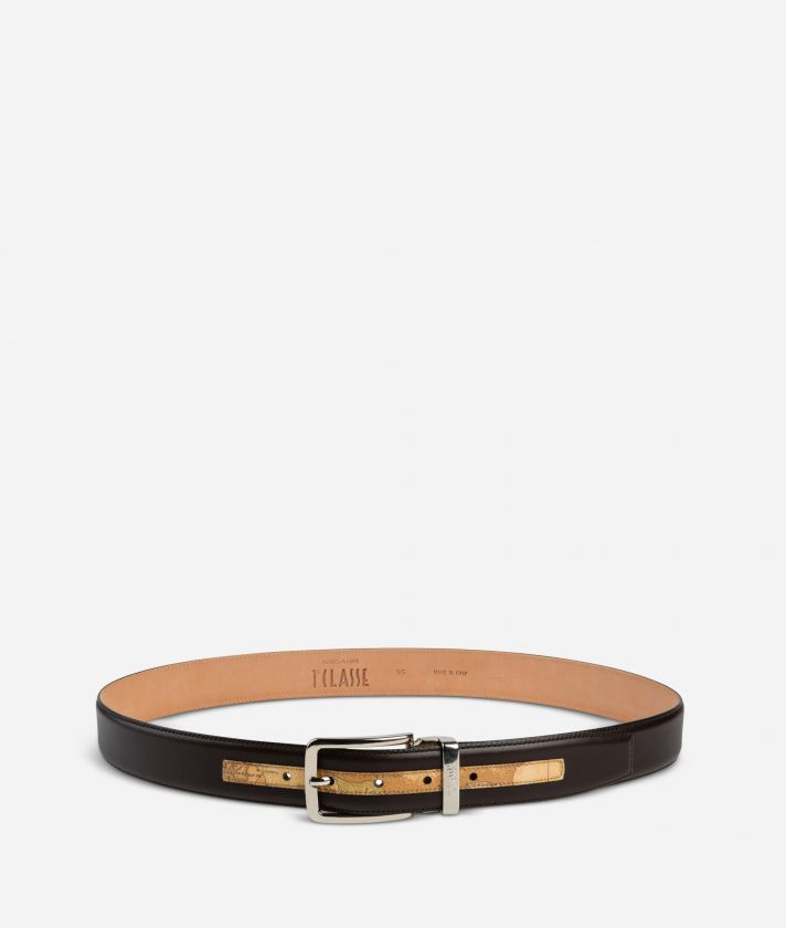 Dark Mood Leather and Geo Classic belt