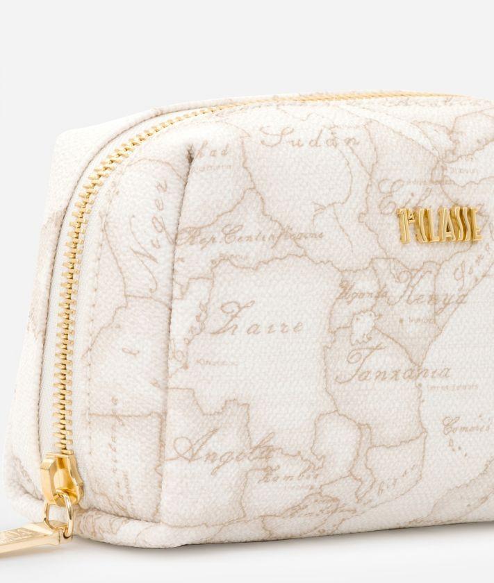 Geo White Small beauty case