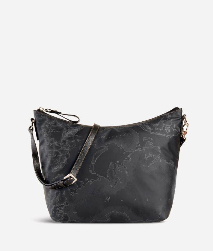 Geo Soft Black Medium shoulder bag
