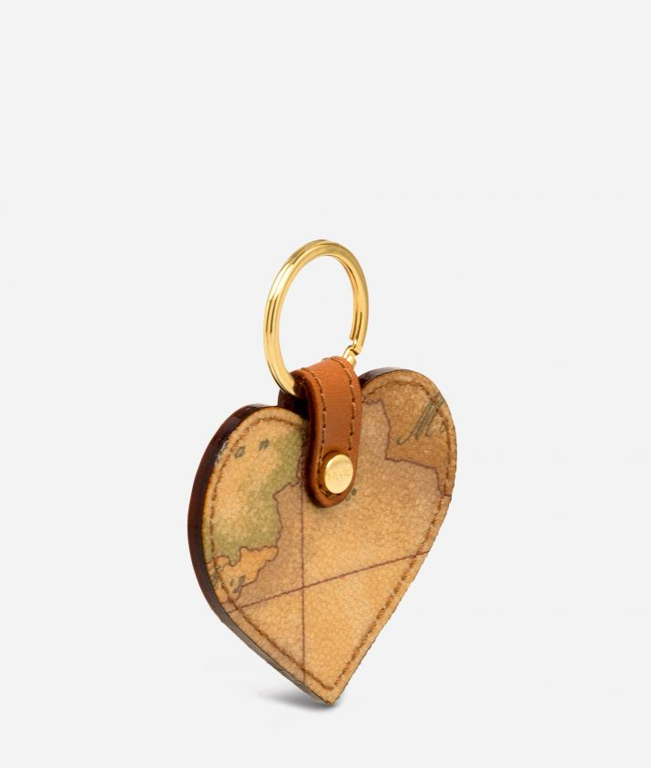Geo Classic Heart shaped key ring