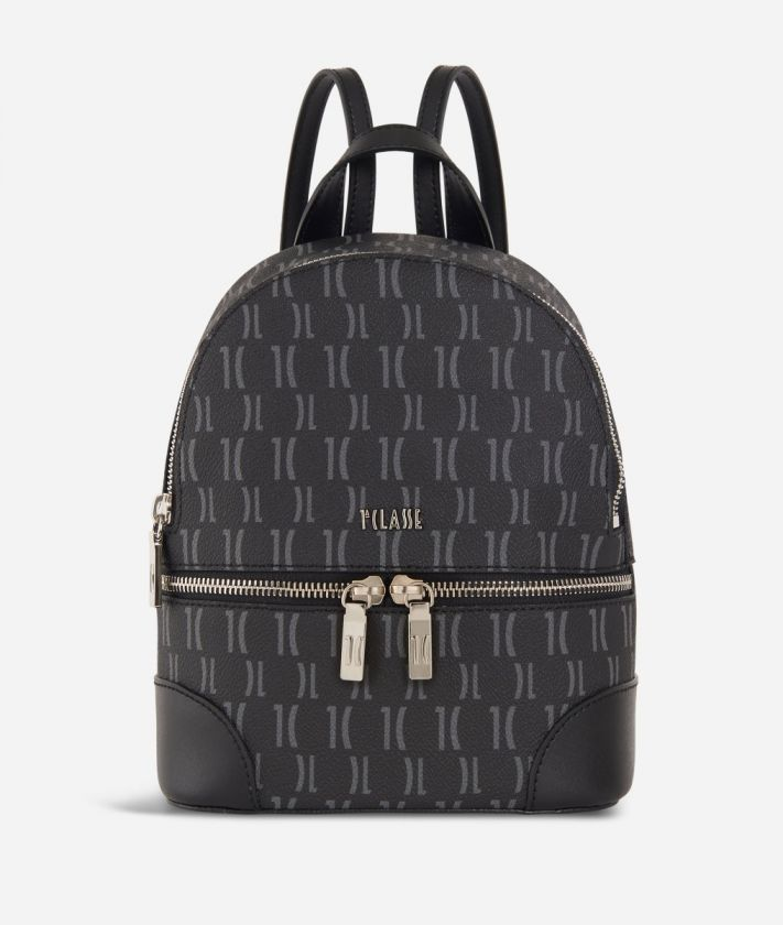Monogram Medium Backpack Black
