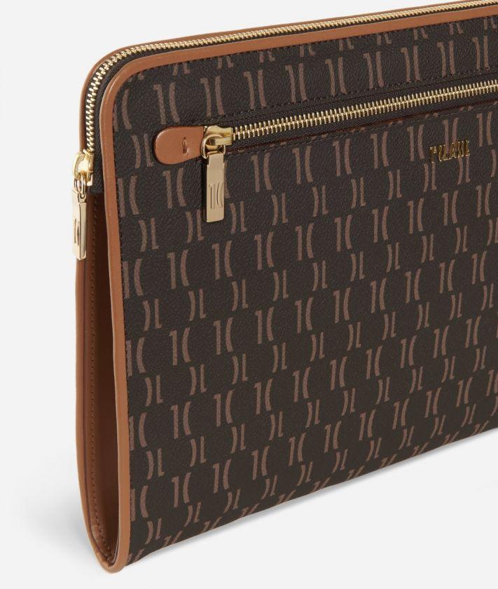 Monogram Briefcase pouch Brown
