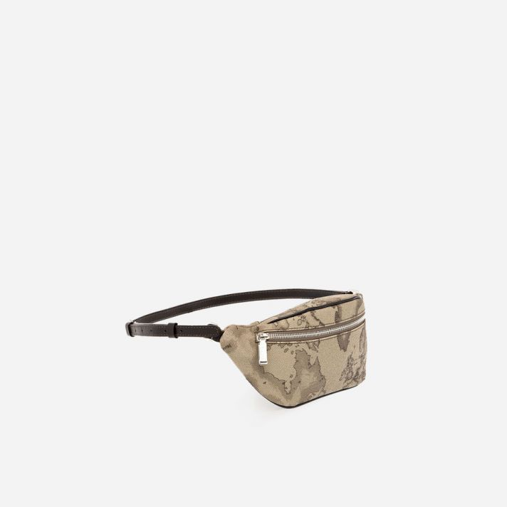 Geo Tortora Belt bag with logo buckle