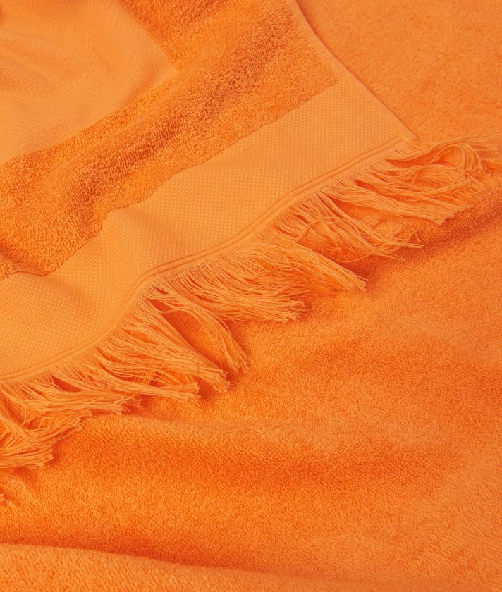 Donnavventura Beach towel with fringes Orange