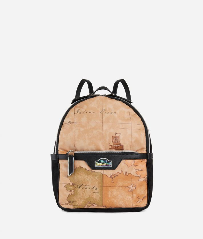 Backpack in Geo Classic print fabric