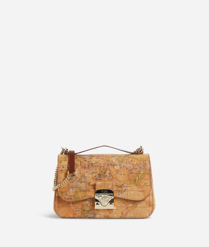 Joy Bag Crossbody Bag in Geo Classic print nappa