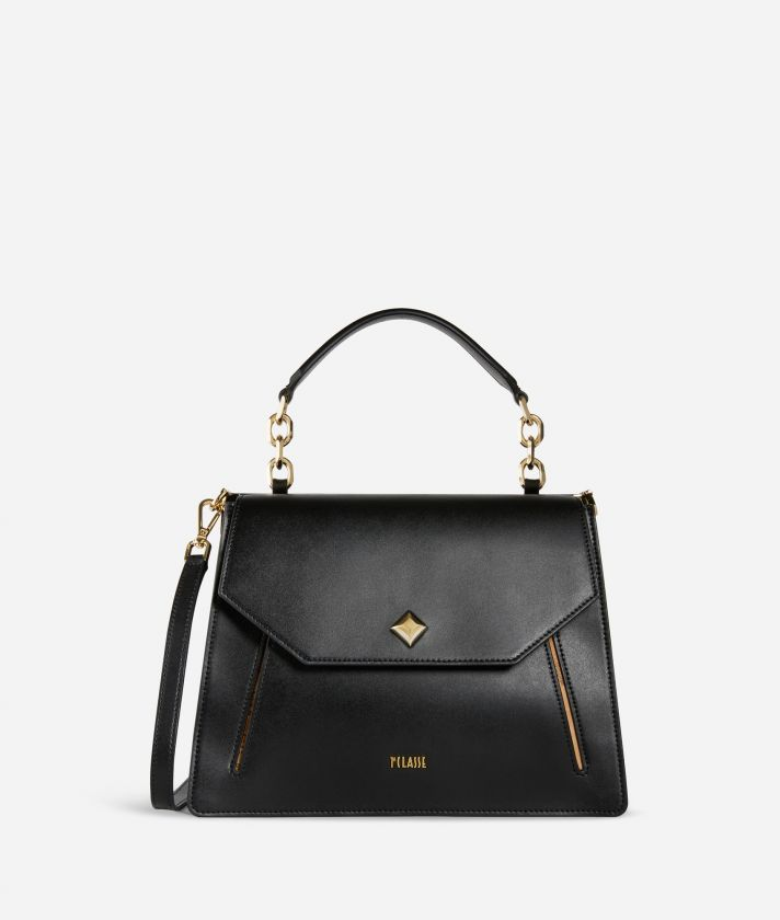 Belle Epoque Handbag in smooth cowhide leather Black