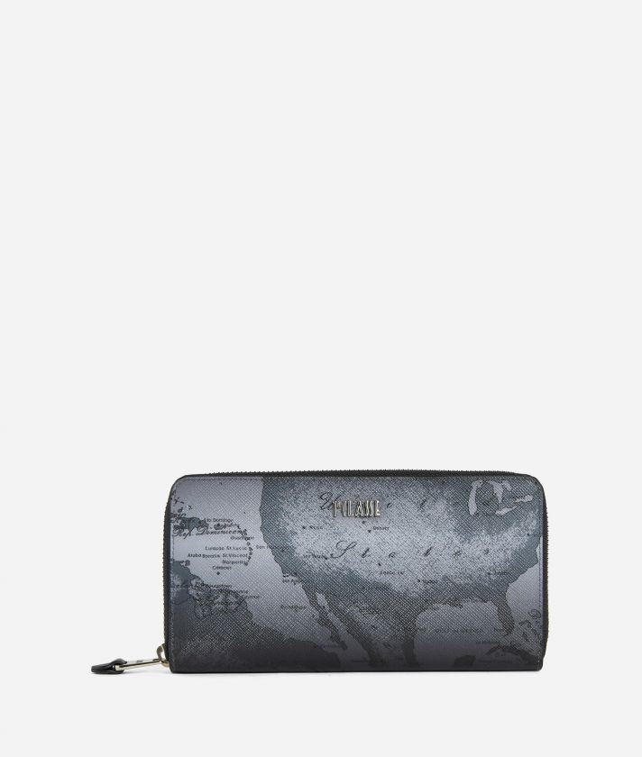 Geo Urban Grey Ziparound Wallet Grey