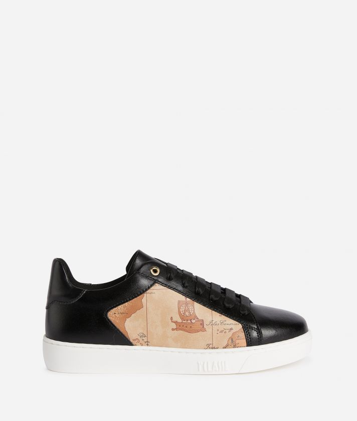 Sneaker in smooth cowhide leather Black