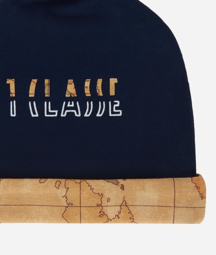 Cappellino in cotone con logo e dettagli Geo Classic Blu