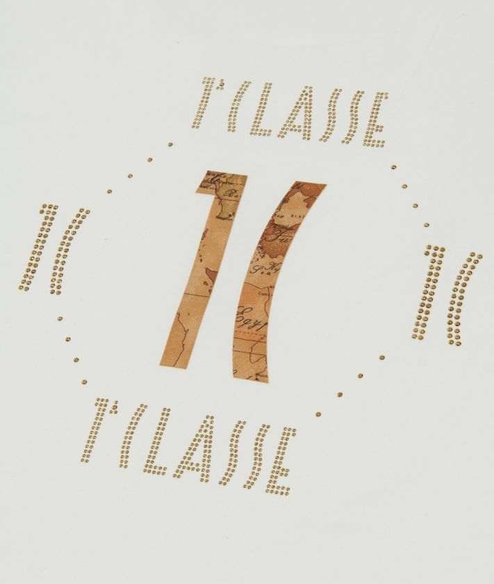 Copertina in cotone con logo 1C Bianca