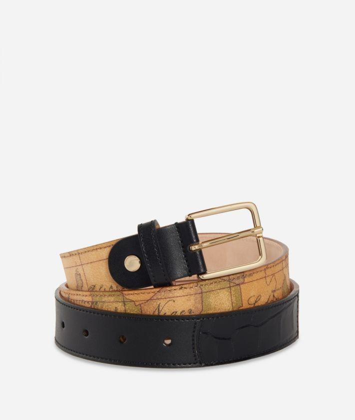 Geo Chic Woman Belt Black