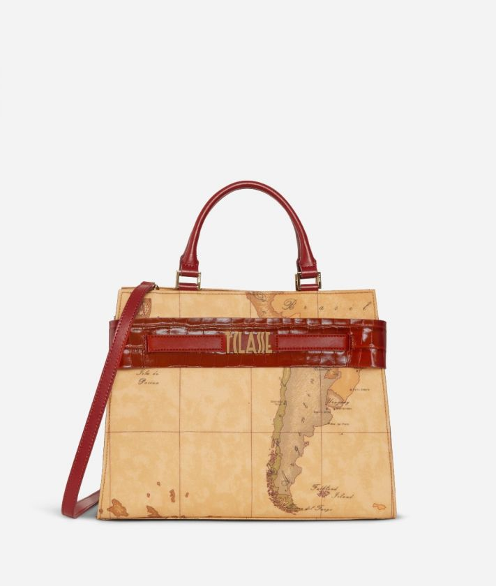 Stylish Bag Borsa a mano in tessuto Geo Classic Rossa