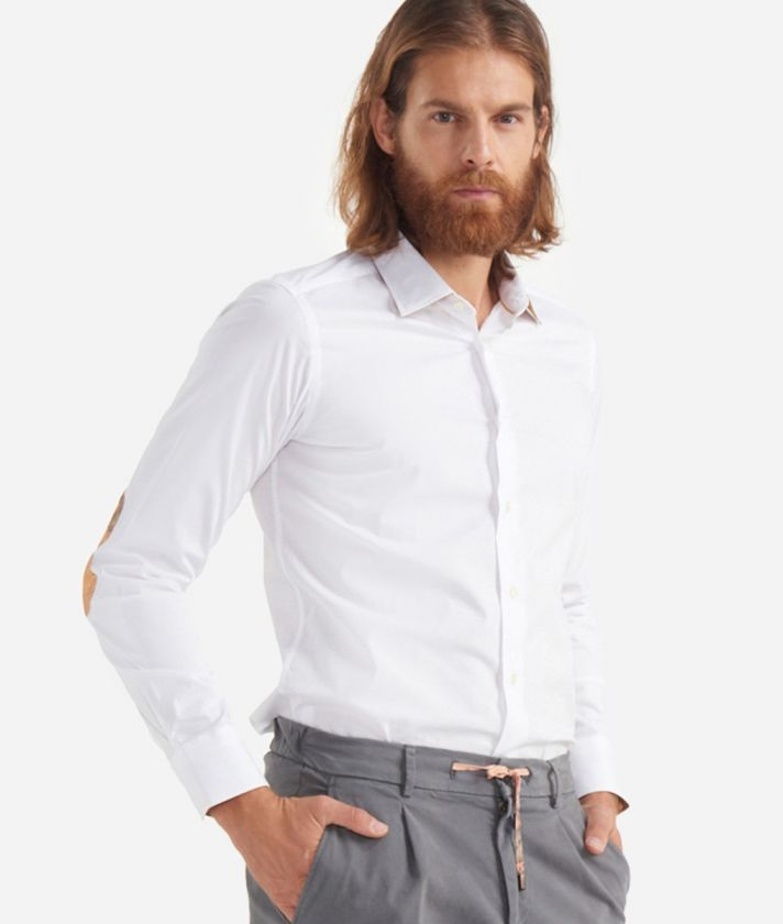 Slim fit Shirt with Geo Classic print patches White