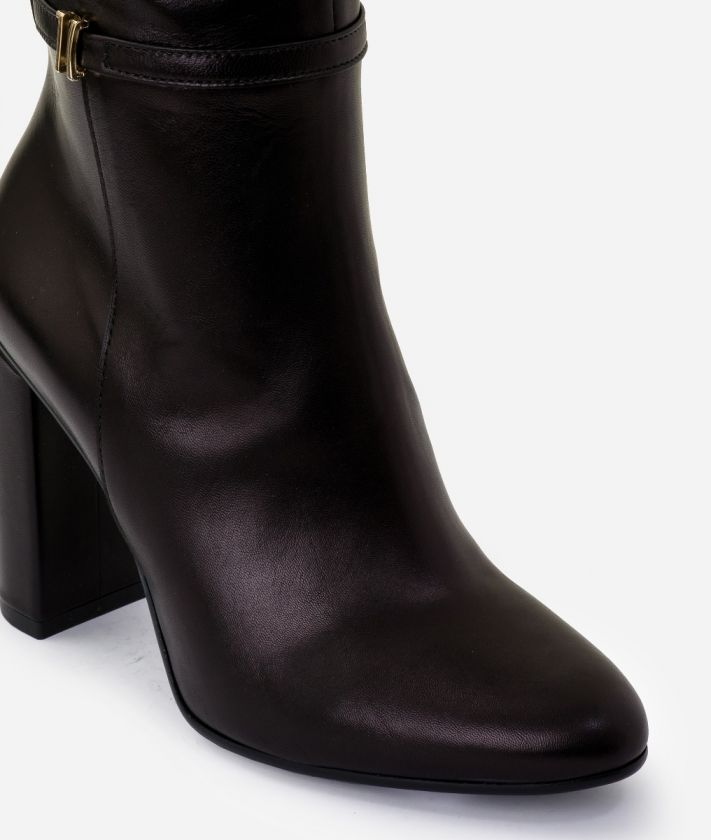 Boots 1C in smooth leather Black