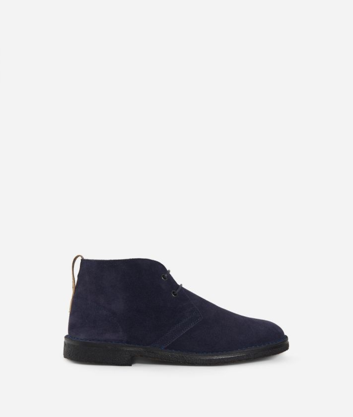 Boots in suede leather Blue