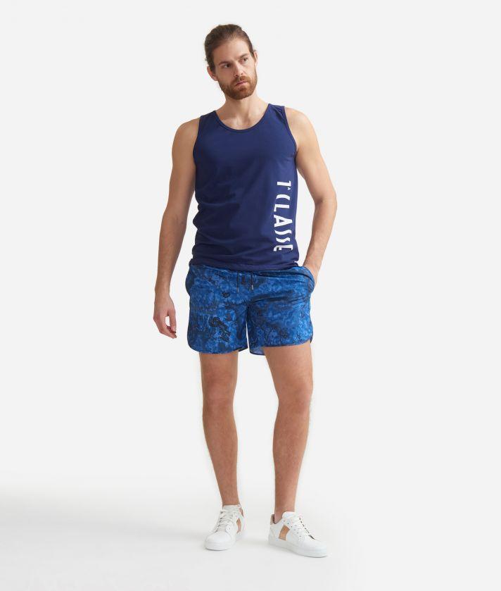 Men's swim trunks with Geo Color print Blue Ocean