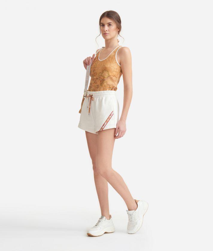 Shorts in cotton fleece White