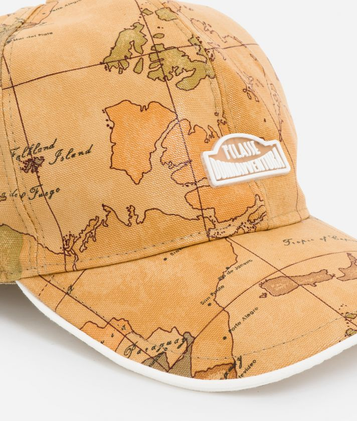 Baseball cap in canvas with Geo Classic print