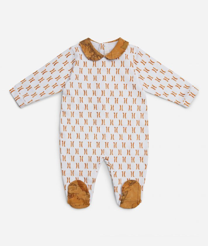 Baby playsuit with 1C all-over print