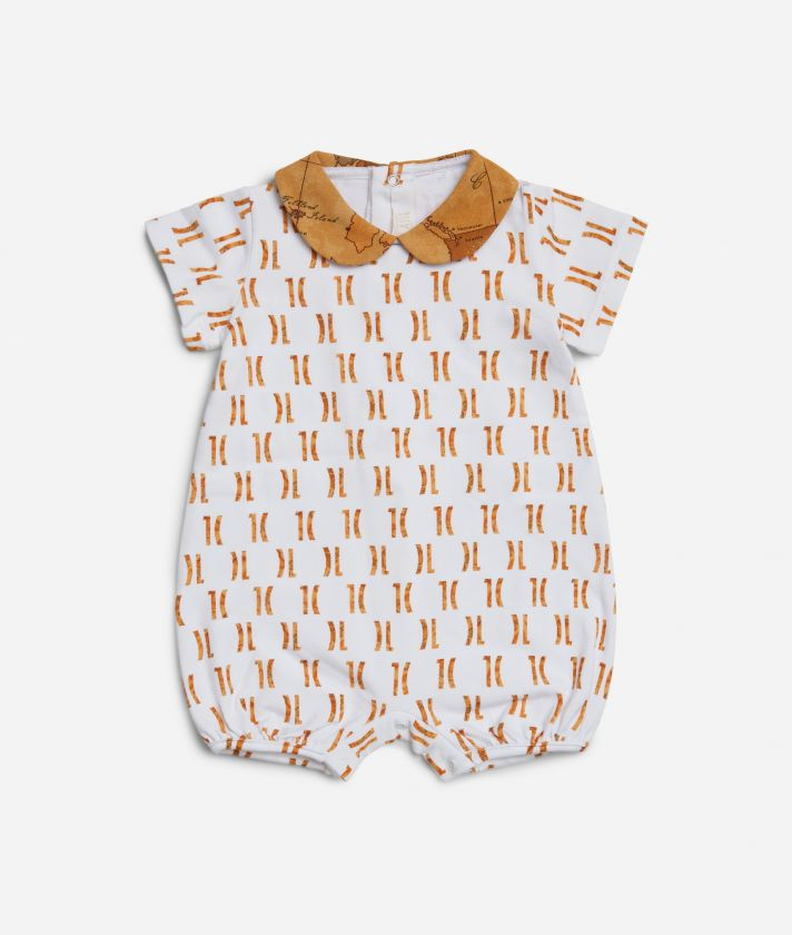 Baby romper with 1C all-over print