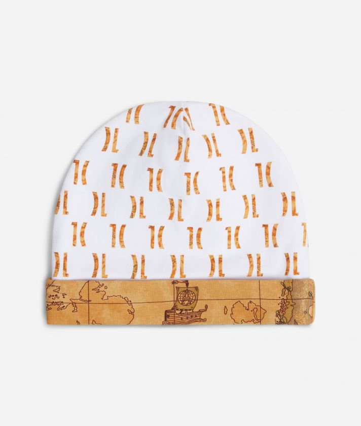 Baby hat with 1C logo all over print
