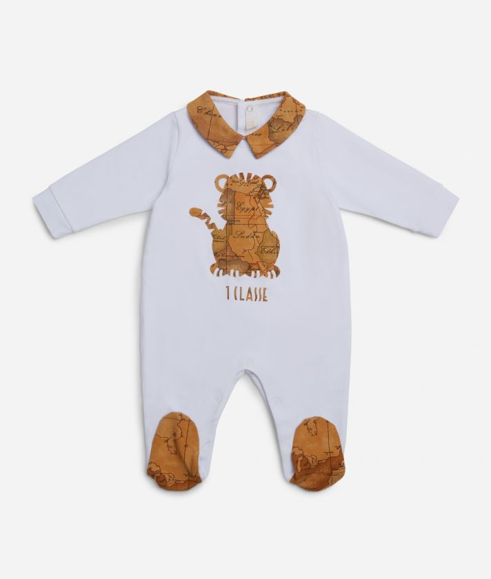 Baby playsuit with tiger