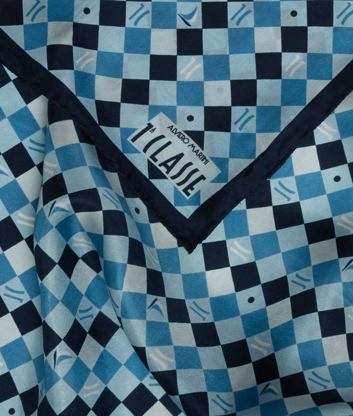Foulard 1C Ocean 70 x 70 Blue