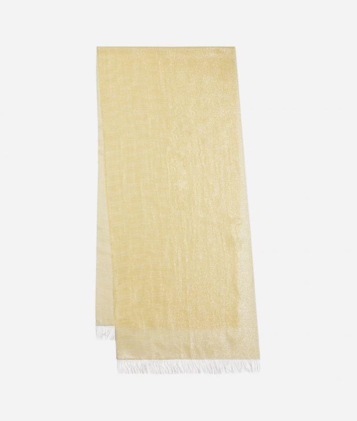 Scarf with 1C Lurex print 40 x 185 Yellow