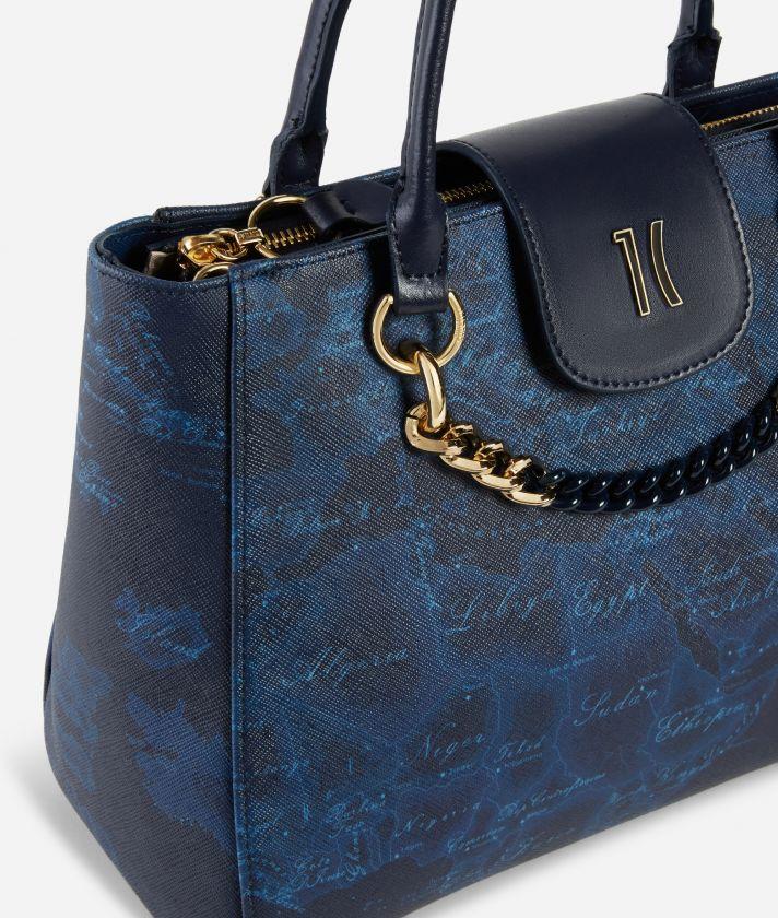 Geo Midnight Handbag Blue