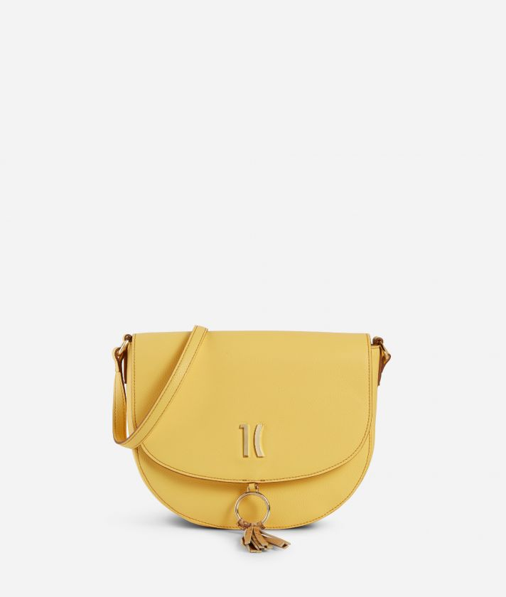 Pacific Crossbody bag in grainy cowhide leather Yellow