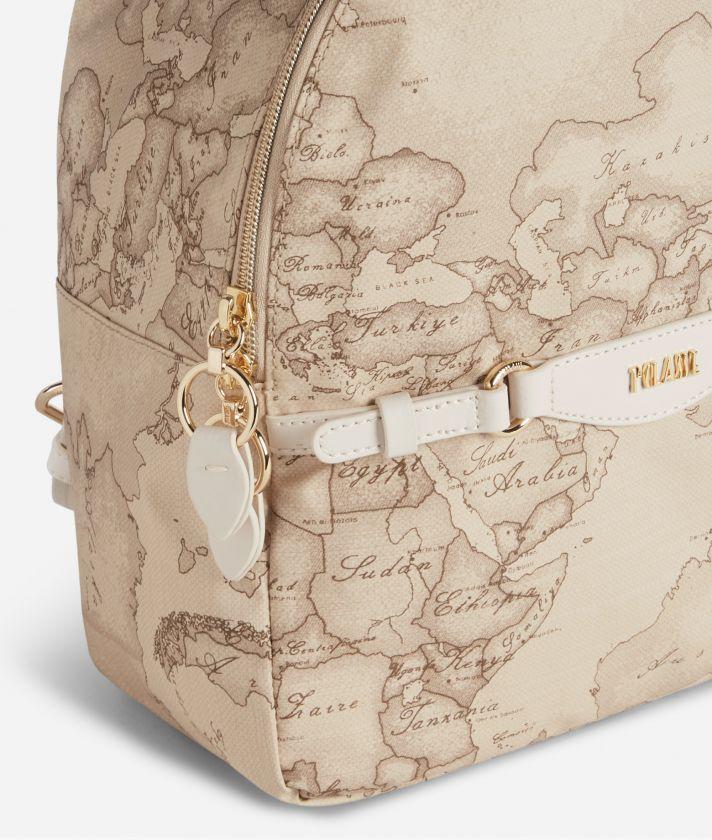 Soft Sound Backpack in soft fabric in Geo Safari print Beige