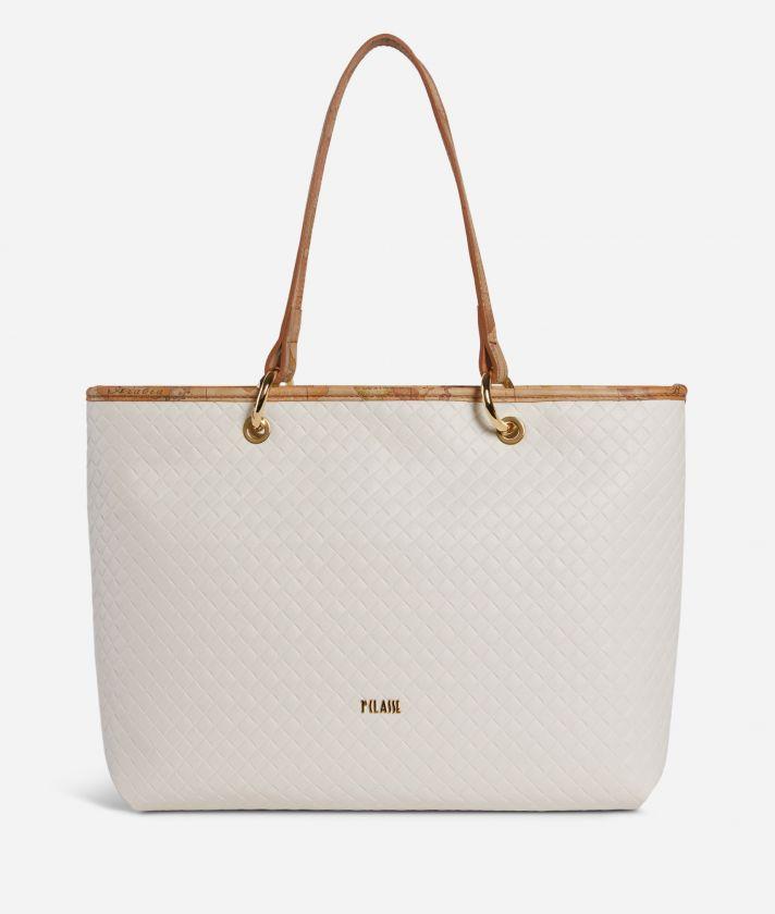 Beverly Shopping Bag White