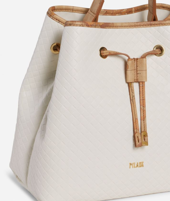 Beverly Bucket Bag White