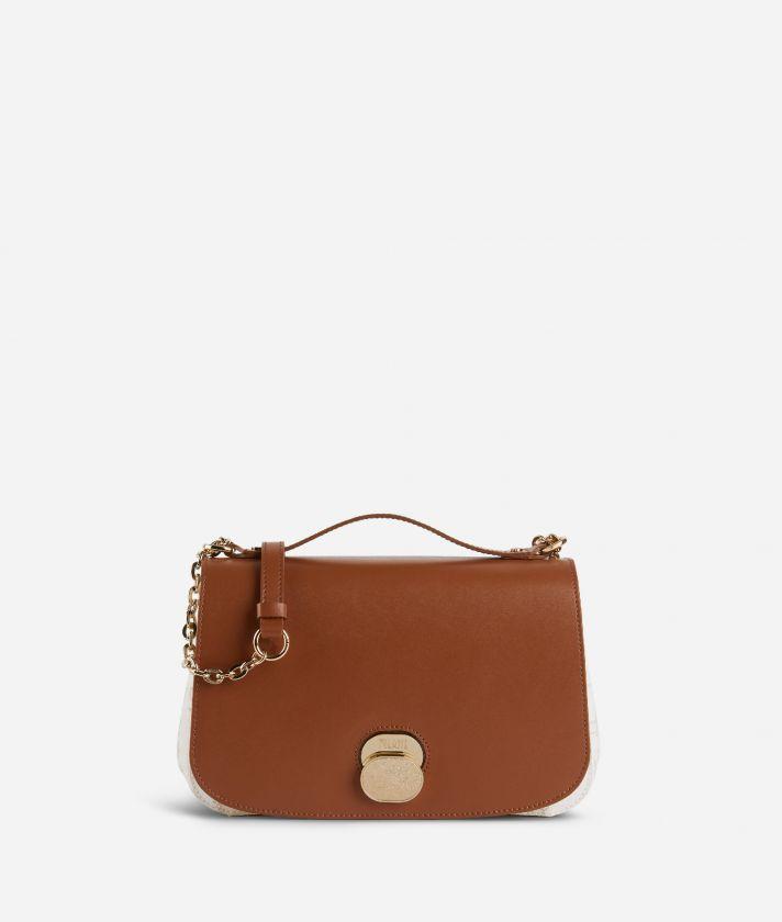 Lady Bag Crossbody bag in Geo White fabric