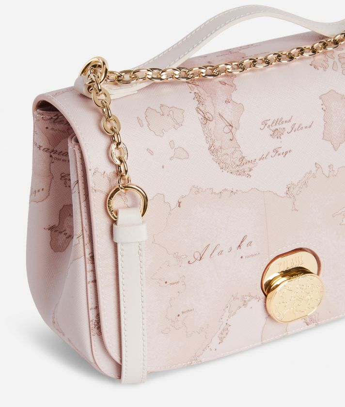 Lady Bag Crossbody bag  in Geo Nude saffiano embossed fabric