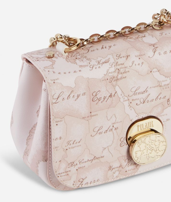 Lady Bag Tracollina in tessuto Geo Nude Rosa